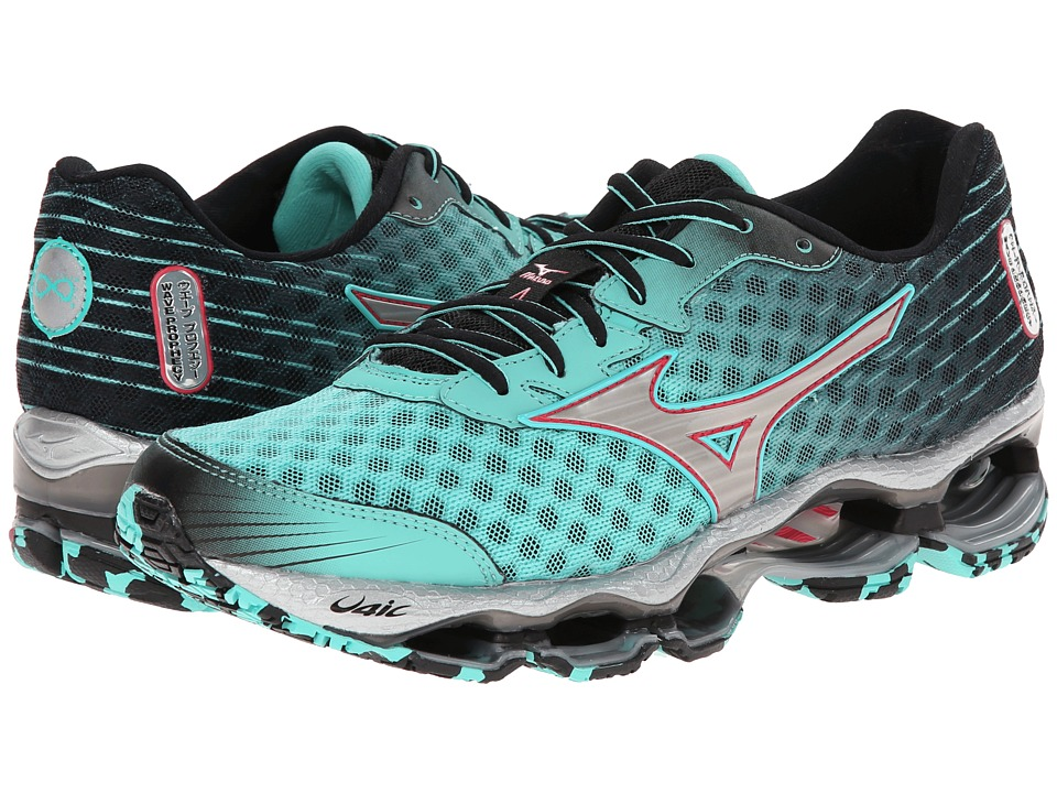 Mizuno - Wave Prophecy 4 (Florida Keys/Silver/Black) Women's Shoes
