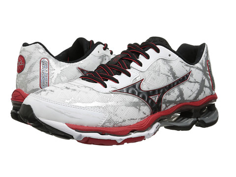 Mizuno - Wave Creation 16 (White/Black/Chinese Red) Men's Shoes