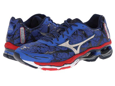 Mizuno - Wave Creation 16 (Turkish Sea/Silver/Chinese Red) Men's Shoes