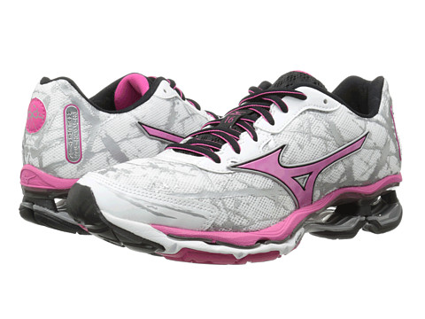 Mizuno - Wave Creation 16 (White/Fuchsia Purple/Black) Women's Shoes