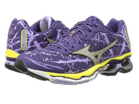 Mizuno - Wave Creation 16 (Mulberry Purple/Silver/Bolt) Women's Shoes