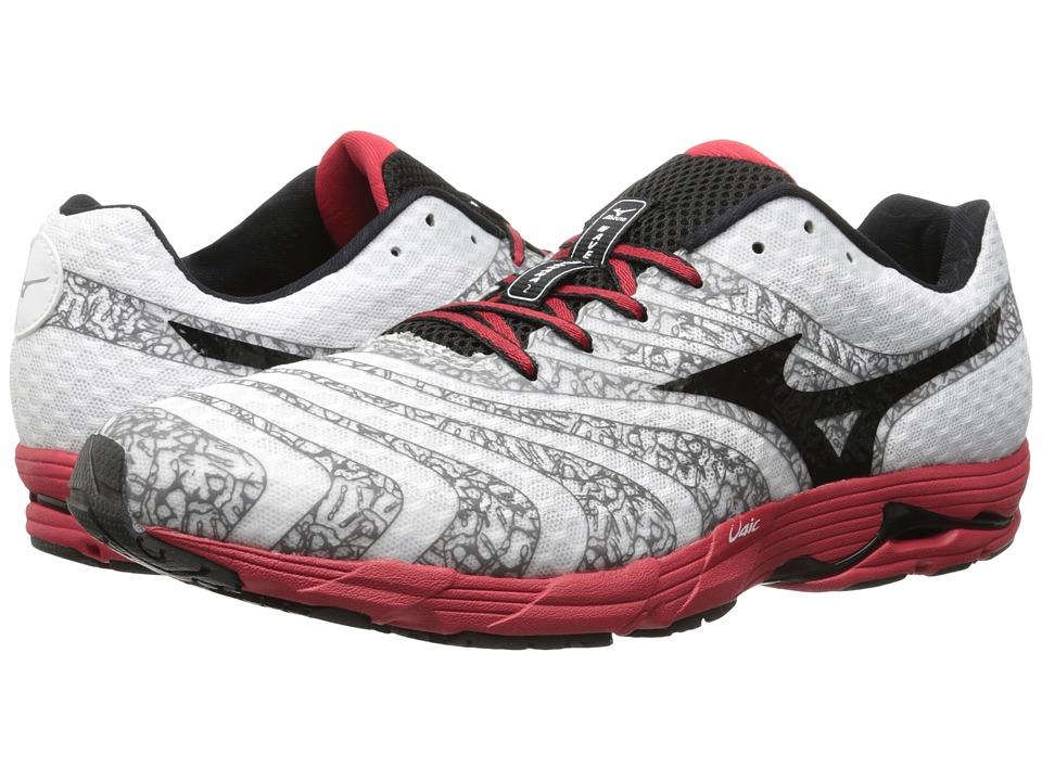 Mizuno - Wave Sayonara 2 (White/Black/Chinese Red) Men's Running Shoes