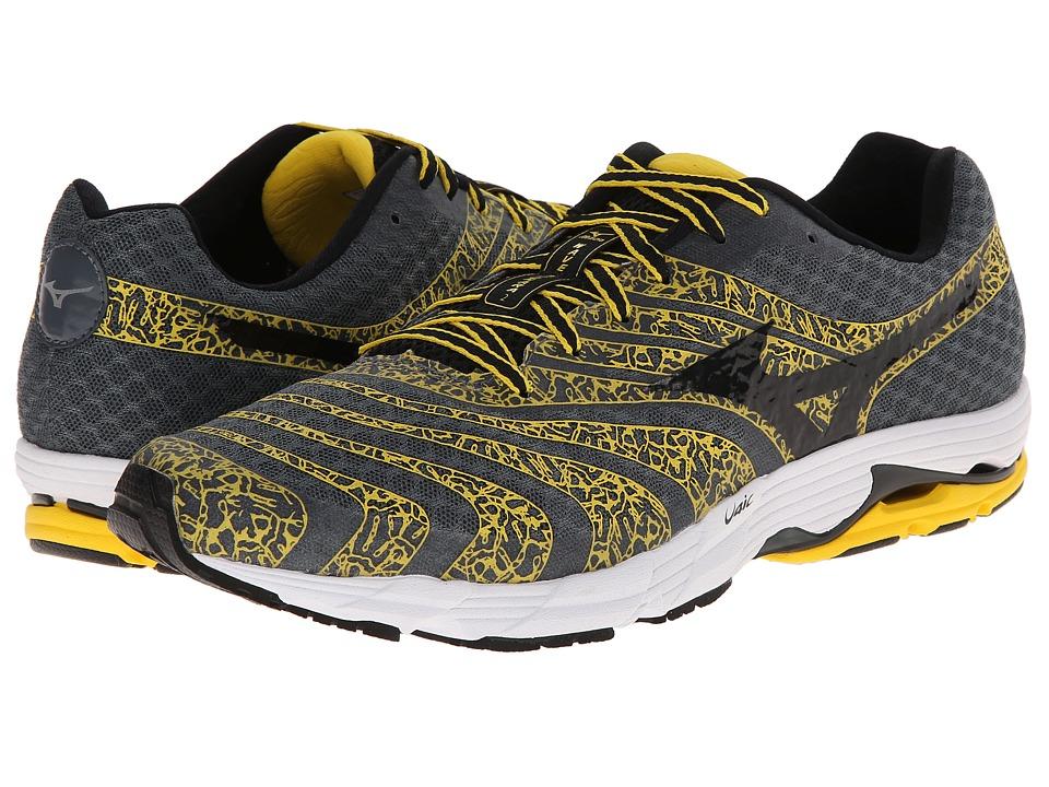 Mizuno - Wave Sayonara 2 (Turbulence/Black/Cyber Yellow) Men's Running Shoes