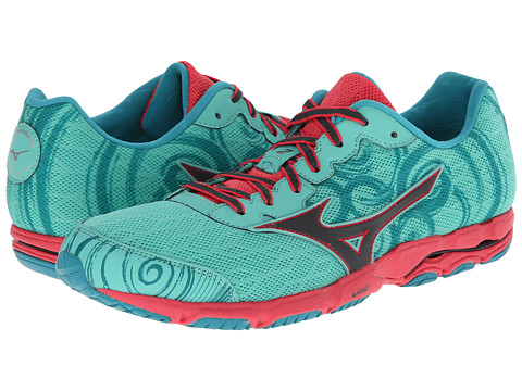 Mizuno - Wave Hitogami 2 (Florida Keys/Turbulence/Rouge Red) Women