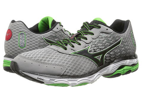 Mizuno - Wave Inspire 11 (Alloy/Black/Classic Green) Men's Shoes