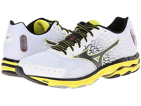 Mizuno - Wave Inspire 11 (White/Black/Bolt) Men