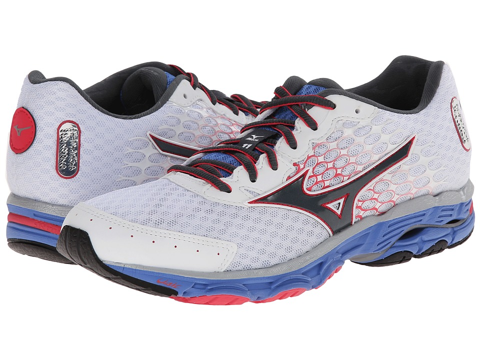Mizuno - Wave Inspire 11 (White/Turbulence/Rouge Red) Women's Shoes