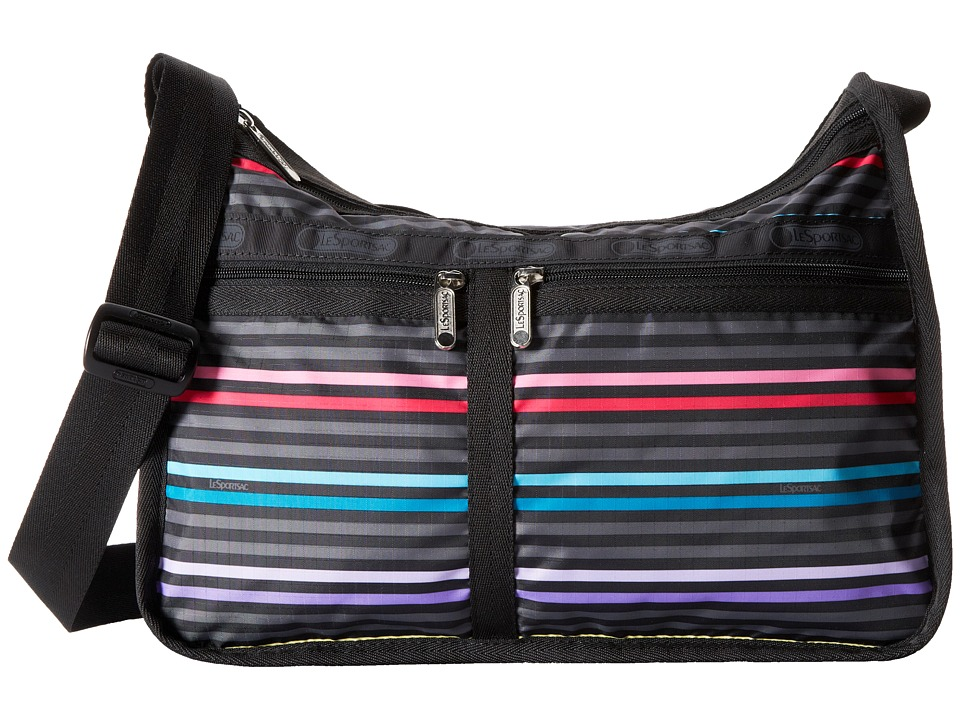 LeSportsac - Deluxe Everyday Bag (Lestripe Black) Cross Body Handbags