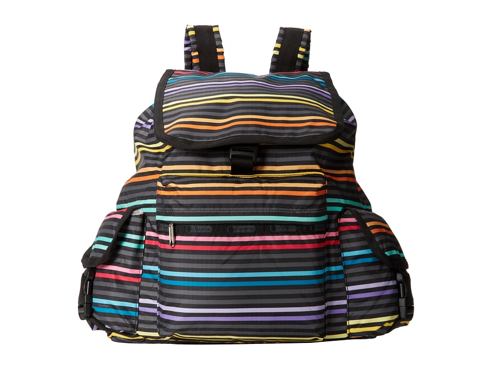 LeSportsac - Voyager Backpack (Lestripe Black) Backpack Bags