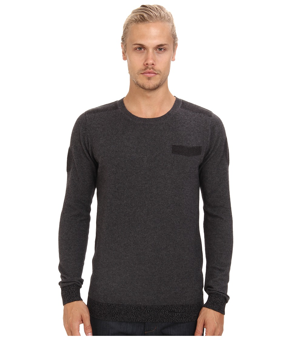 Diesel - K-Ane Sweater (Charcoal/Grey) Men's Long Sleeve Pullover
