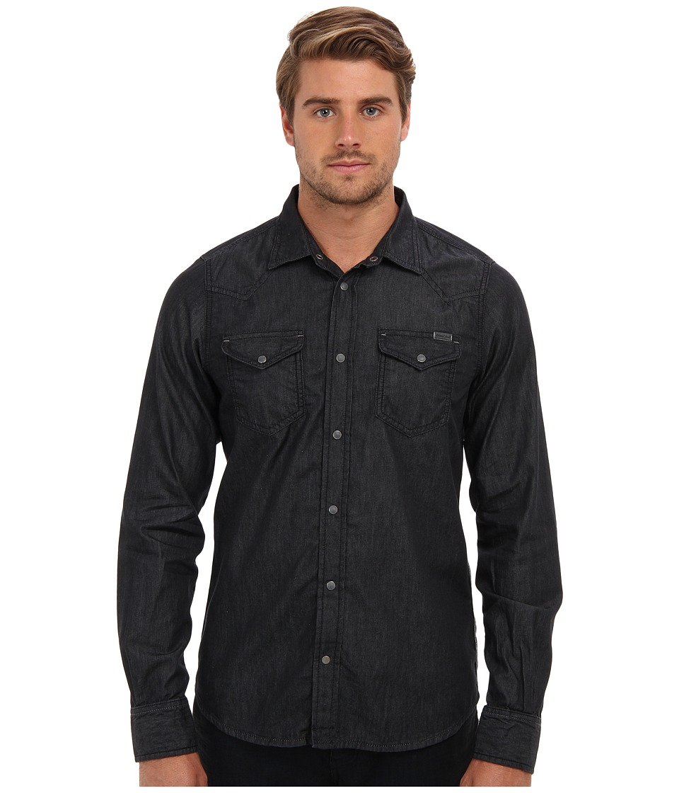 Diesel - New-Sonora Shirt (Black) Men's Long Sleeve Button Up