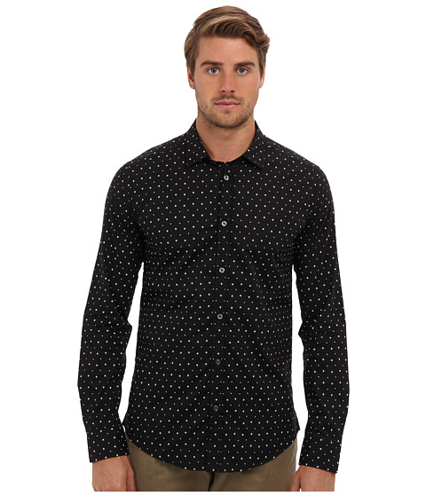 Diesel - S-Tapas Shirt (Black) Men's Long Sleeve Button Up