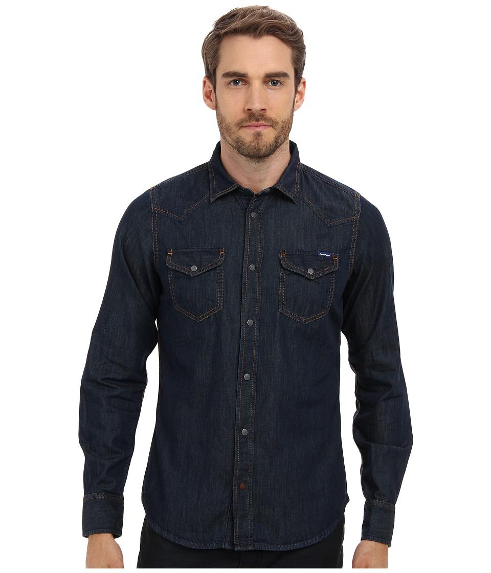 Diesel - New-Sonora Shirt (Denim) Men's Long Sleeve Button Up