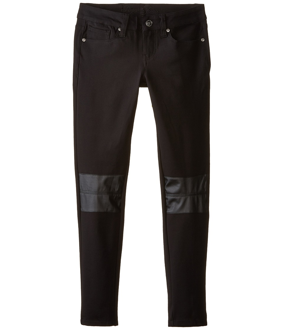 Request - 92551 Jegging with PU Knee Patch (Black) Women's Jeans