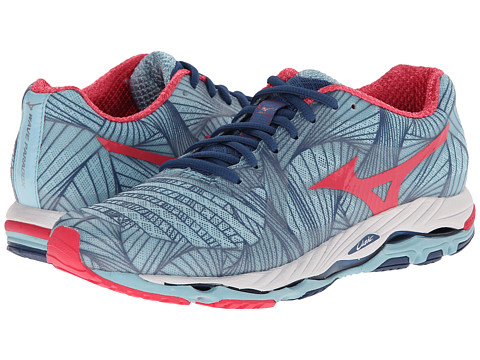 Mizuno - Wave Paradox (Porcelain Blue/Rouge Red/Dark Blue) Women's Running Shoes