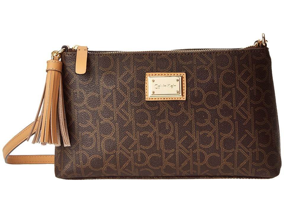 Calvin Klein - Monogram Crossbody (Brown/Khaki/Camel 2) Cross Body Handbags