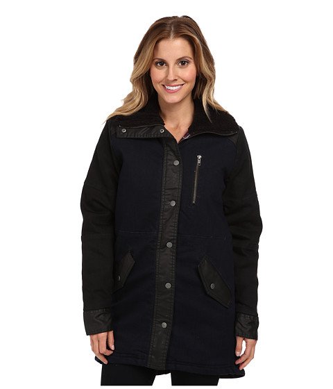 RVCA - First Snow (Dark Denim) Women's Coat