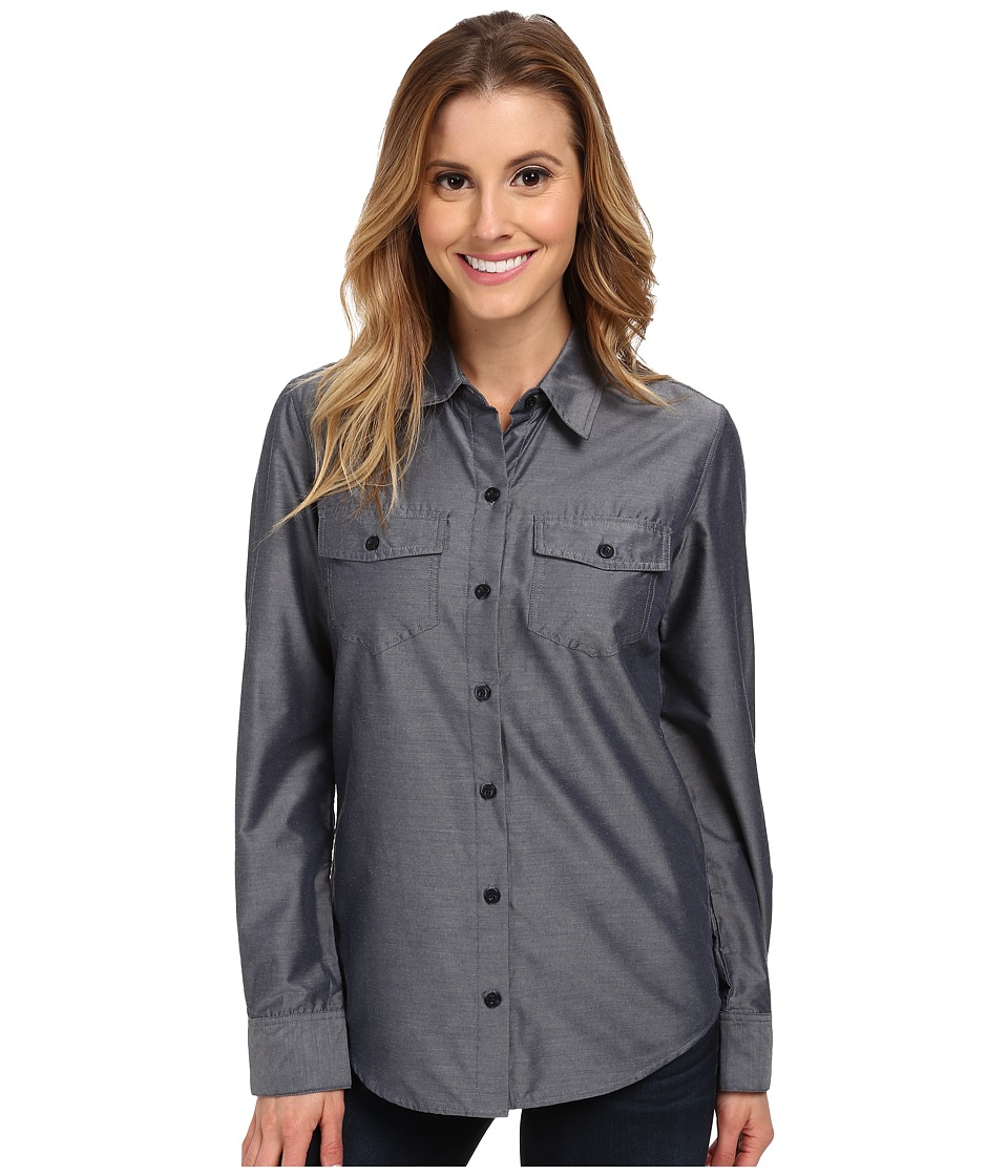 Patagonia - L/S Overcast Shirt (Chambray/Navy Blue) Women's Long Sleeve Button Up