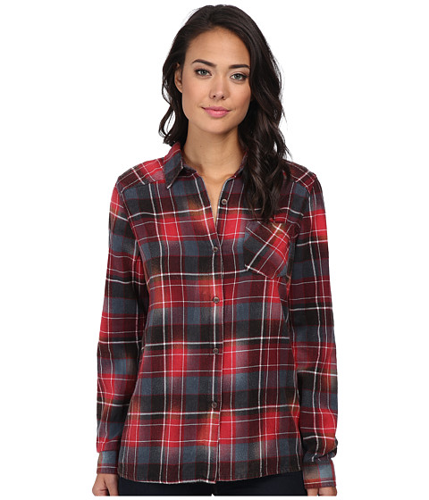 RVCA - Jig (Black) Women's Long Sleeve Button Up