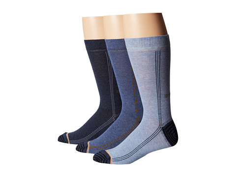 Diesel - Ray Sock 3-Pack KACI (Blue) Men's Crew Cut Socks Shoes
