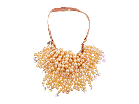 Betsey Johnson - Pinktina CS Large Pearl Multi Strand Necklace (Pearl/Rose Gold) Necklace