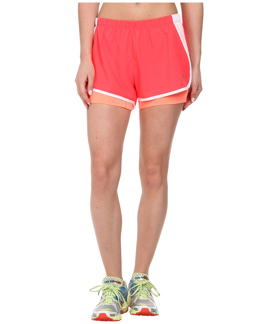 New Balance - Momentum 2-in-1 Short (Bright Cherry) Women's Shorts