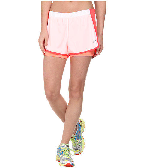 New Balance - Momentum 2-in-1 Short (White) Women