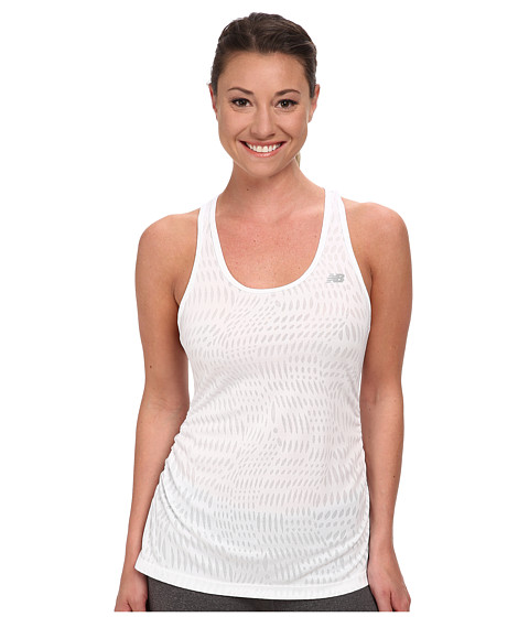 New Balance - Basic Volume Tank (White) Women's Sleeveless