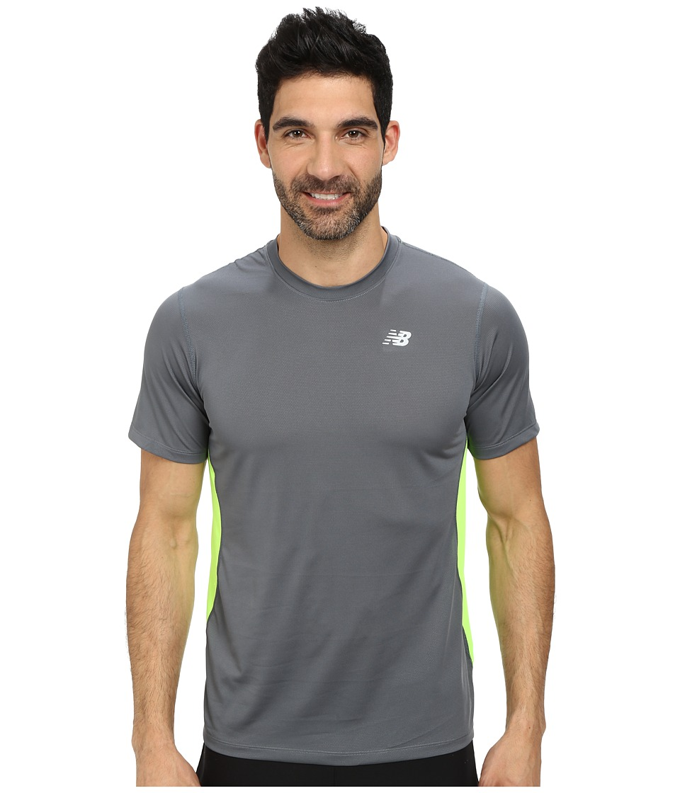 New Balance - Speed Short Sleeve Run Top (Lead) Men