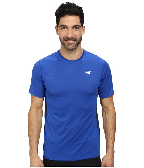 New Balance - Speed Short Sleeve Run Top (Optic Blue) Men