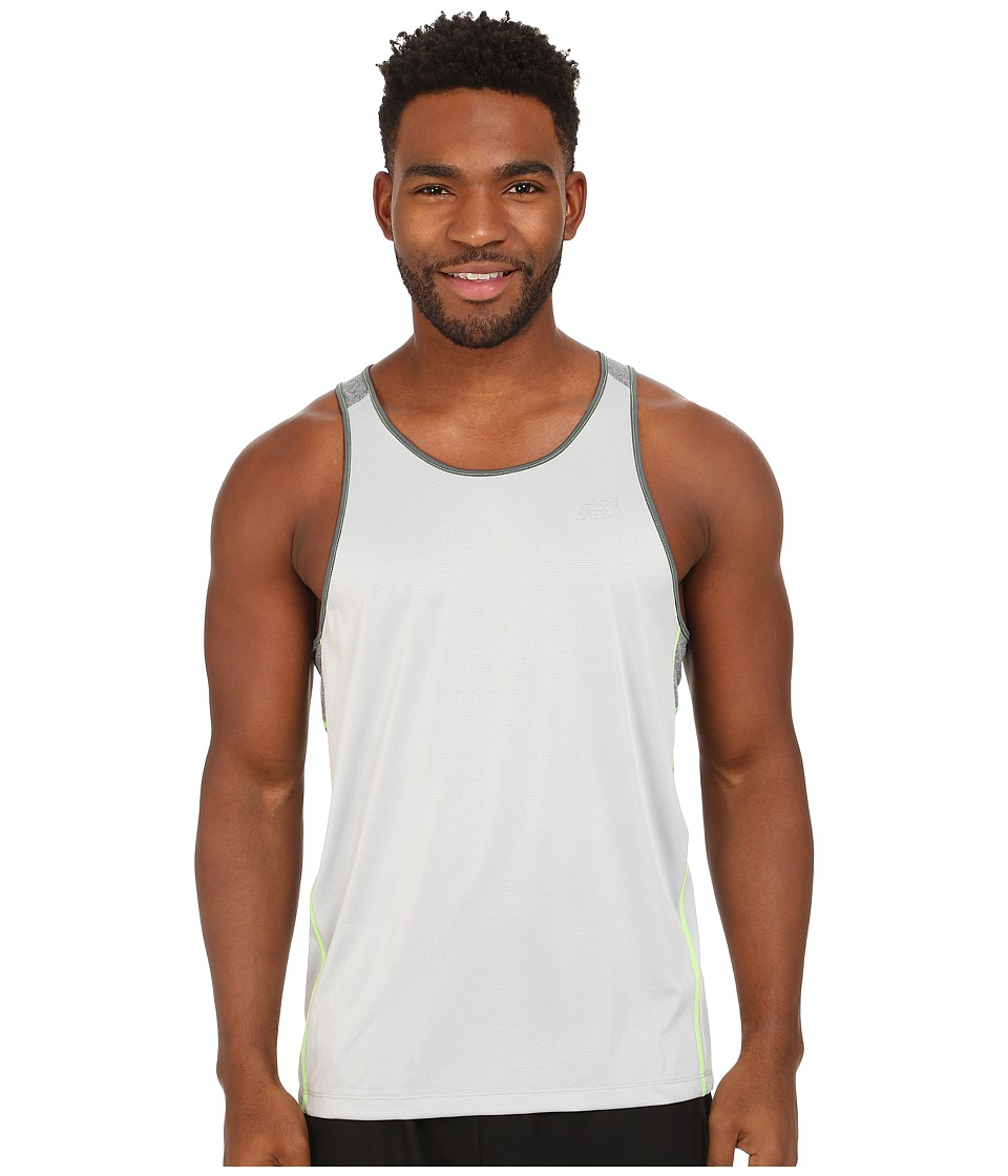 New Balance - Go Run Singlet (Silver Mink) Men's Clothing