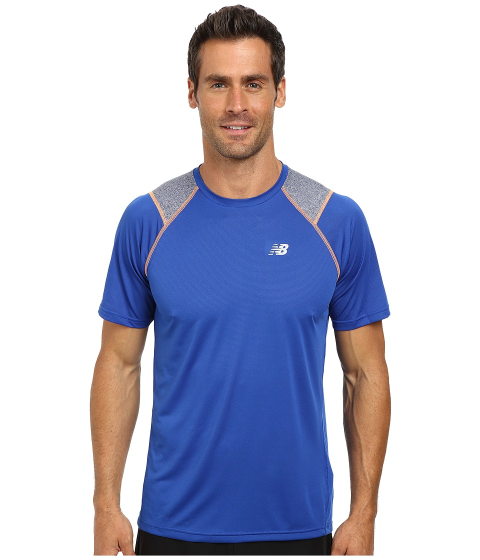 New Balance - Go Run Short Sleeve Top (Optic Blue) Men