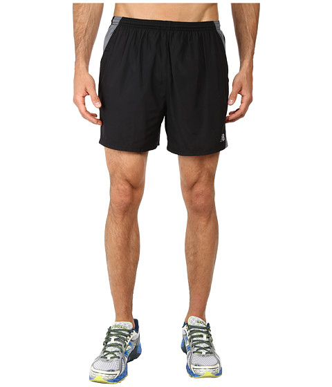 New Balance - Go Run 5 Short (Black/Grey) Men's Shorts