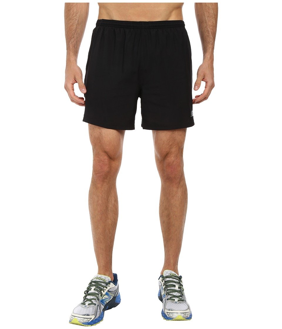 New Balance - Go Run 5 Short (Black) Men's Shorts