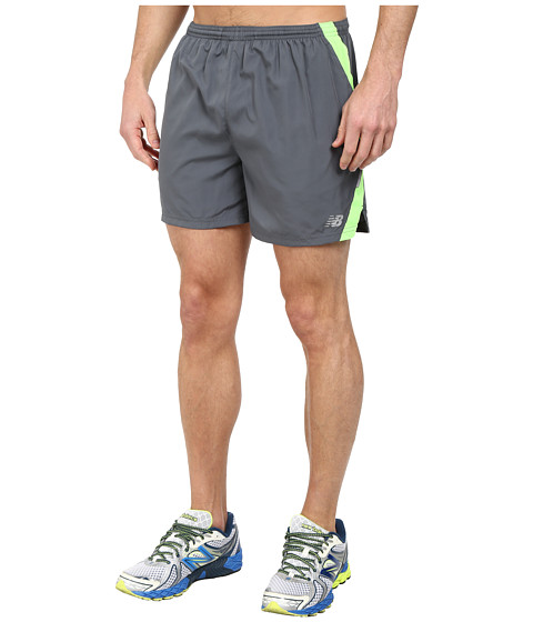 New Balance - Go Run 5 Short (Lead) Men's Shorts