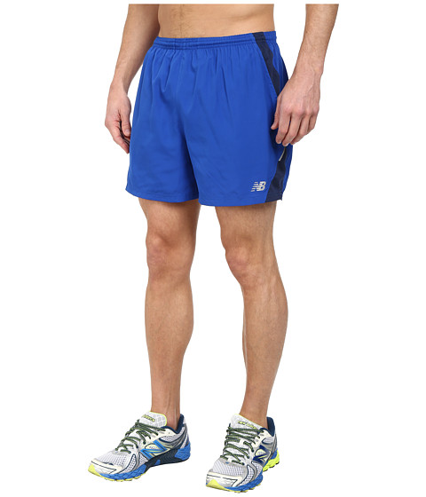 New Balance - Go Run 5 Short (Optic Blue) Men