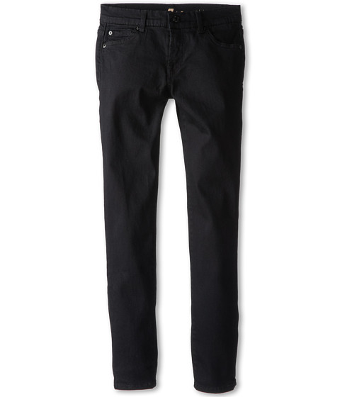 7 For All Mankind Kids - Skinny Jean in Black Black (Big Kids) (Black Black) Girl