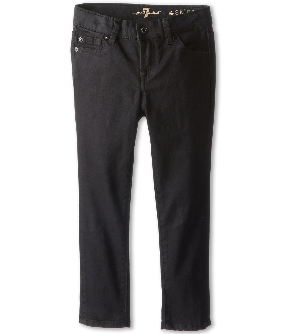 7 For All Mankind Kids - Skinny Jean in Black Black (Little Kids) (Black Black) Girl's Jeans