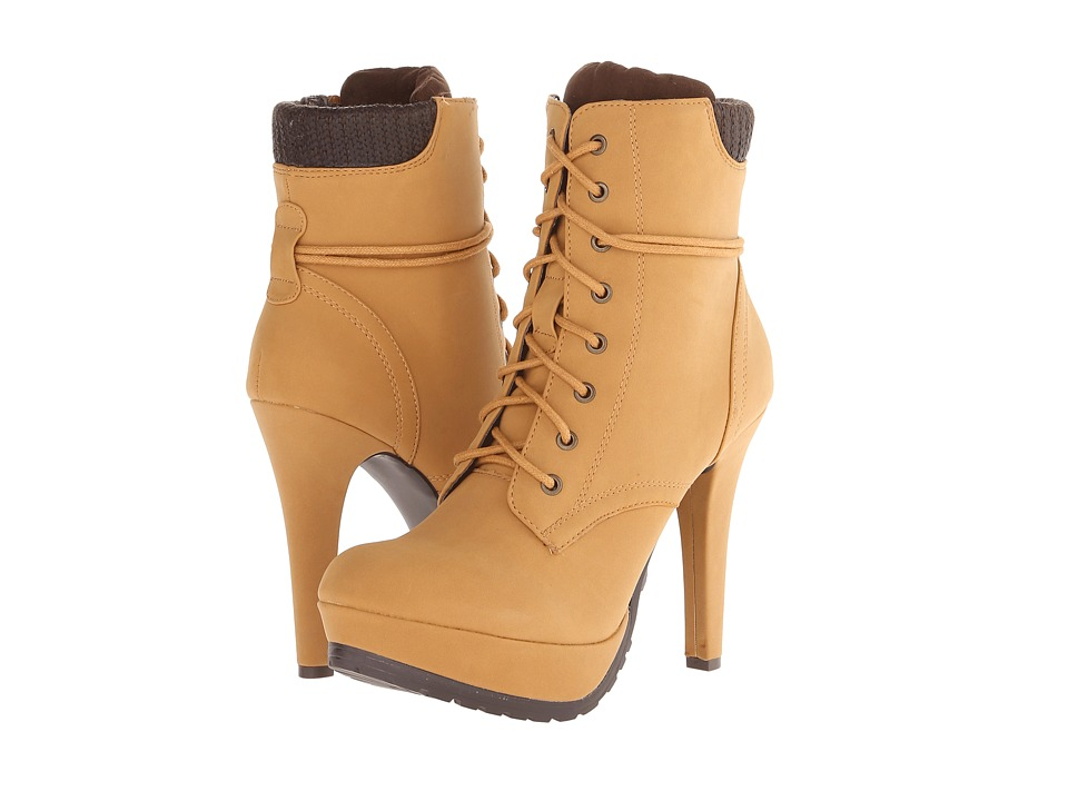Call it SPRING - Glelawen (Mustard) Women's Lace-up Boots