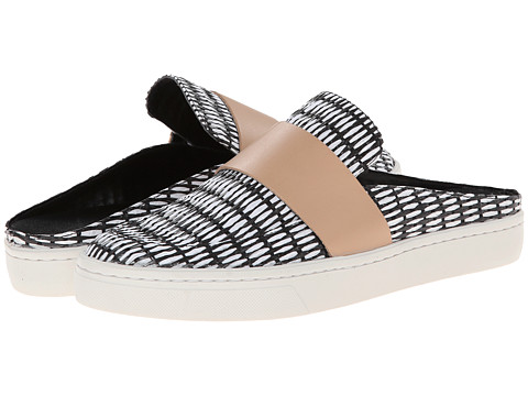 Loeffler Randall - Linette (Black/White/Buff) Women's Shoes
