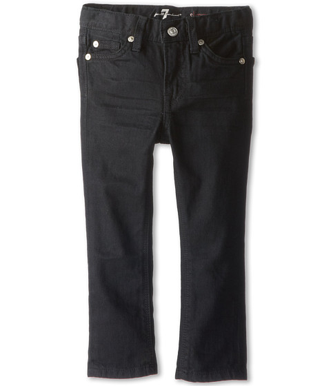 7 For All Mankind Kids - Slimmy Jean in Black Out (Toddler) (Black Out) Boy