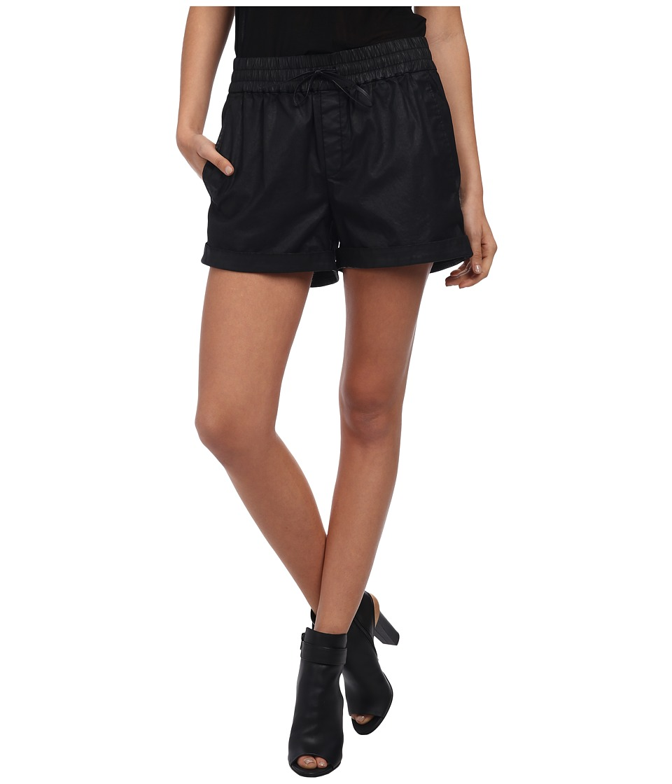 HELMUT LANG - Abrade Coating Shorts (Black) Women