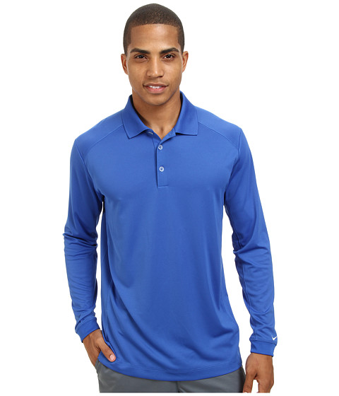 Nike Golf - UV Nike Victory L/S Polo (Gamerl/White) Men