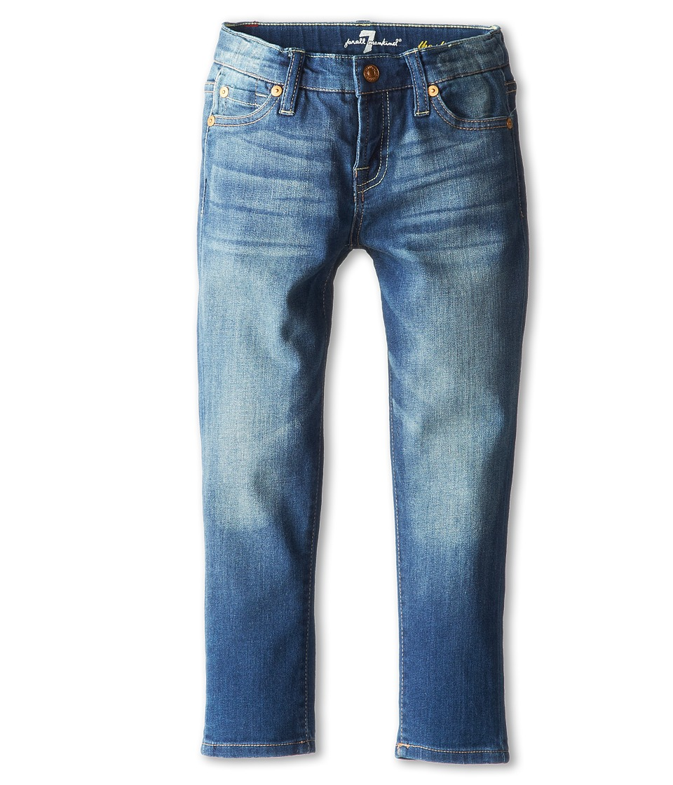 7 For All Mankind Kids - Slim Crop Ankle Skinny Jean in Blue Shadows (Little Kids) (Blue Shadows) Girl's Jeans