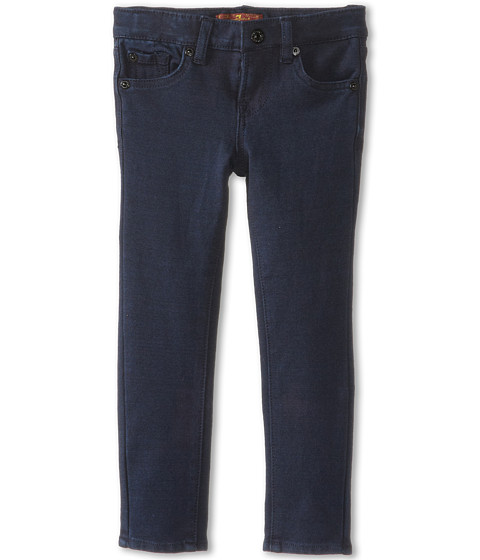 7 For All Mankind Kids - Skinny Jean in Indigo Ponte Knit (Little Kids) (Indigo Ponte Knit) Girl's Jeans