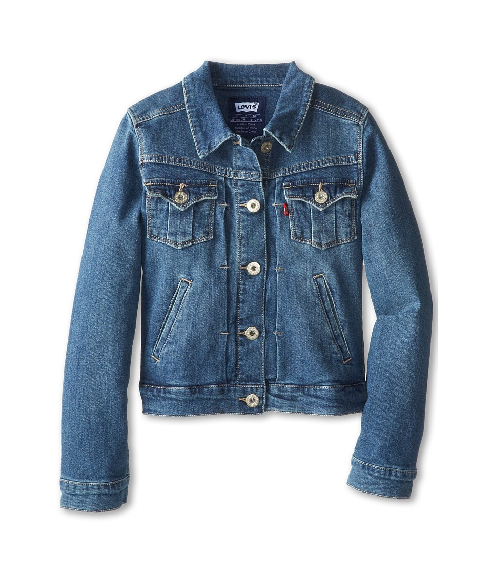 Levi's(r) Kids - Girls' Trucker Jacket (Big Kids) (Rebel Blue) Girl's Coat