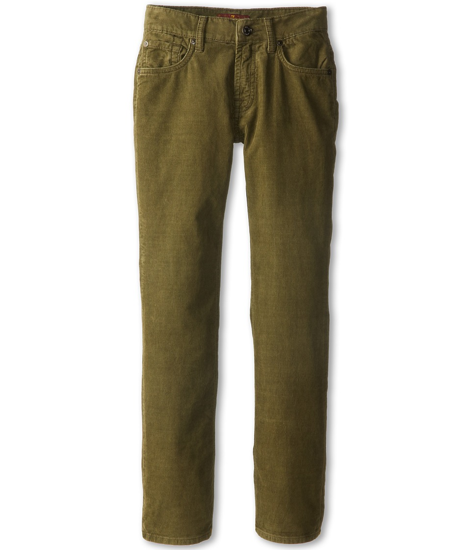 7 For All Mankind Kids - Standard Corduroy Jean in Olive (Big Kids) (Olive) Boy