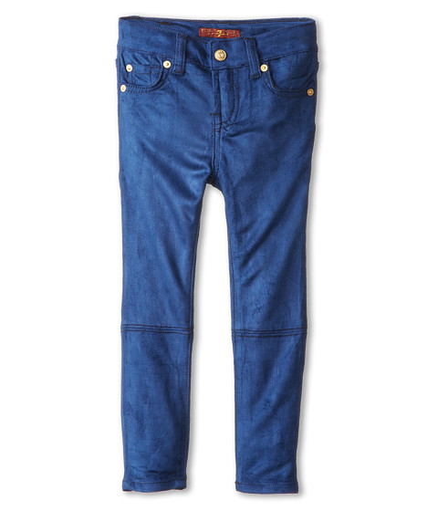 7 For All Mankind Kids - Skinny Jean in Navy Sueded Skinny (Little Kids) (Navy Sueded Skinny) Girl's Jeans