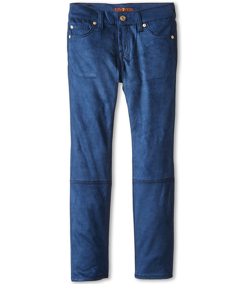 7 For All Mankind Kids - Skinny Jean in Navy Sueded Skinny (Big Kids) (Navy Sueded Skinny) Girl
