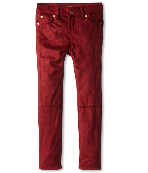 7 For All Mankind Kids - Skinny Jean in Fisherman Red Sueded Skinny (Little Kids) (Fisherman Red Sueded Skinny) Girl's Jeans